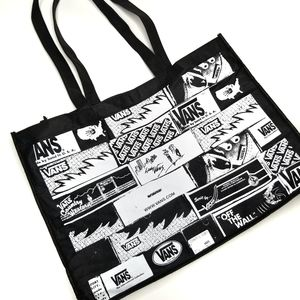 NWT Vans Reusable Tote Bag Checkered Black